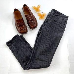 PrAna Gray Herringbone Pattern Jeans